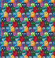 owls hand drawn seamless pattern vector image