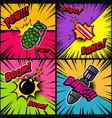 set of comic style bomb explosion design element vector image