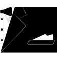mens suit the tuxedo business card vector image