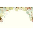 Background with frame with Autumn Leafs EPS 8 vector image