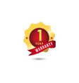 1 year warranty template design vector image