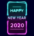 2020 new year design template for seasonal vector image