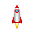 3d cartoon rocket vector image vector image