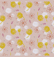 abstract shapes and florals seamless pattern pale vector image vector image