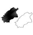 al-qassim region map vector image vector image