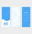 art school banner templates set with place for vector image vector image