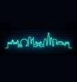 blue neon skyline london city bright london vector image vector image