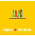 Book shelf with four books Back to school Flat vector image
