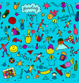 bowling seamless pattern for your design vector image vector image
