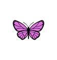 butterfly icon design template isolated vector image vector image