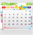 Calendar March 2013 vector image