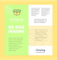 carton business company poster template with vector image vector image