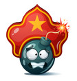 cartoon bomb fuse wick spark icon kokoshnik vector image