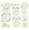 Celebrate EasterHappy GreetingsSpring Is Here Egg vector image vector image