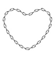 Chain in shape of heart vector image vector image