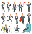 characters businessman set businessman in vector image vector image