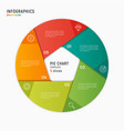 circle chart infographic template 5 vector image vector image