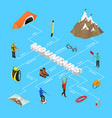 color mountaineering signs 3d infographics vector image vector image