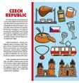 czech republic symbol cuisine and architecture vector image vector image