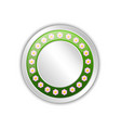 decorative blank spring badge with flowers vector image vector image