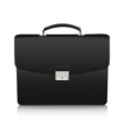 Detailed black briefcase with leather texture vector image vector image