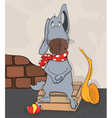 Dog the street musician Cartoon vector image