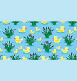 ducks and reeds vector image vector image