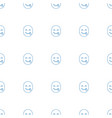 emot showing tongue icon pattern seamless white vector image vector image