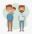 fathers and son characters card vector image vector image