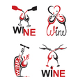 glasses with wine vector image