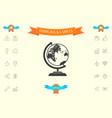 globe symbol icon vector image vector image