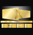 Gold business cards set vector image vector image