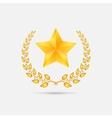 golden laurel wreath with star vector image vector image