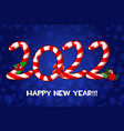 happy new year greeting card as candies vector image vector image