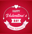 happy valentines day 14th february ribbon white ar vector image vector image