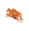 Headless Horseman Pumpkin Head Drawing vector image vector image