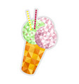 ice cream cone isolated icon vector image