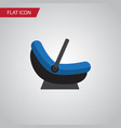 isolated cradle flat icon pram element can vector image vector image