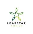 leaf star logo icon vector image