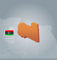 libya information map vector image