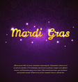 Mardi Gras beauty background vector image vector image
