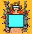 medical research cyberpunk naked woman virtual vector image vector image