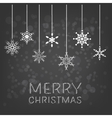 Merry Christmas background with hanging snowflake vector image vector image