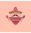 Mexican label and emblem vector image vector image