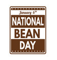 national bean day grunge rubber stamp vector image vector image
