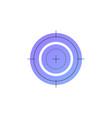 neon shooting target line icon vector image vector image