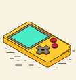 old gadget isometric flat icon eps10 vector image vector image