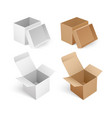 packing for logistic distribution box sign vector image