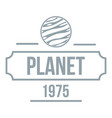 planet cosmic logo simple gray style vector image vector image