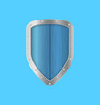 realistic detailed 3d shield on a blue vector image vector image